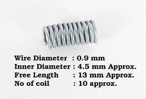0.9mm Draht Durchmesser x 4.5mm i. d. x 13mm Länge Druckfeder Stahl ...