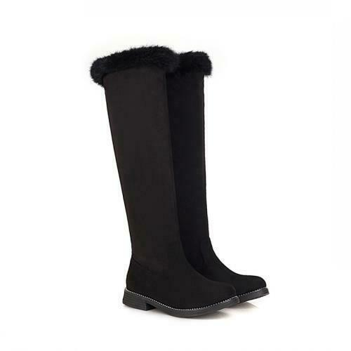 Details about  /Cowboy Women/'s Knight Knee High Boots Round Toe Low Heel Punk 41//42//43 Winter D