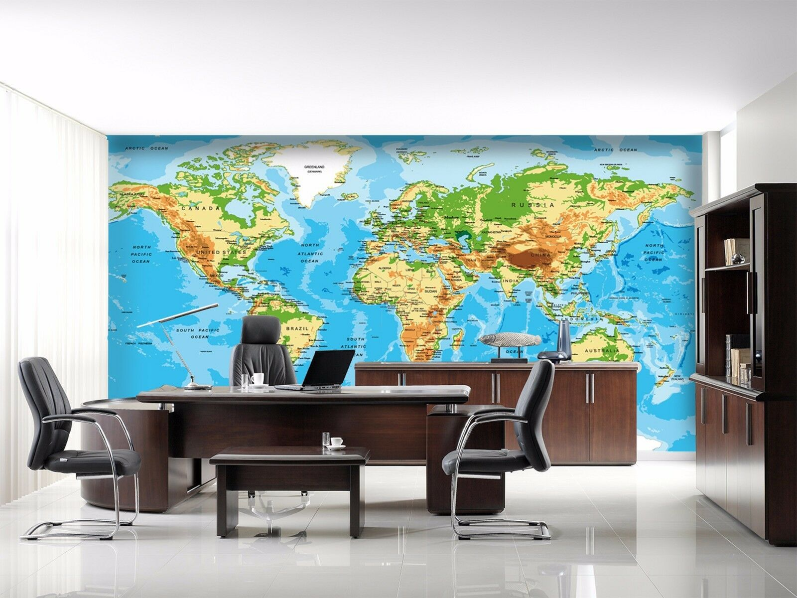 3D Grün world map 243 Wall Paper Wall Print Decal Wall Deco Indoor Wall Murals