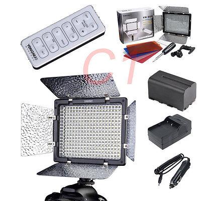 Yongnuo YN-300 Led video light + NP-F750 Battery Pack for Canon Nikon Pentax