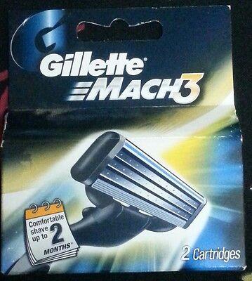 Gillette Mach 3 Brand New Shaving Cartridges Blades Worldwide Free Shipping