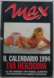 Calendario Max.Details About Calendario Eva Herzigova 1994 Max