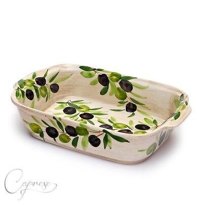 Umorismo Bassano Ceramica Sformato Forme Casseruola 29,5 Cm Olive 2d Motivo Dall'italia Nuovo- Pacchetti Alla Moda E Attraenti
