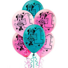 MINNIE MOUSE Fun to Be One LATEX BALLOONS (15) ~ 1st Birthday Party Supplies