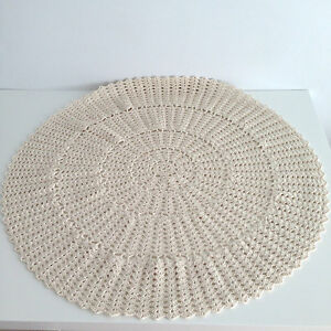 NEW Handmade Round Crochet Doilie Ivory/Natural Color