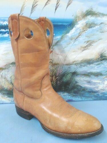 Vintage Mens  Brown Leather  Western cowboy  boot