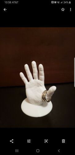 Realistic 3D Printed Hand sculpture for jewelry display or decoration