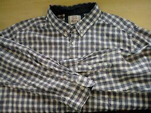 Mens-George-Long-Sleeve-Check-Shirt-Size-XL