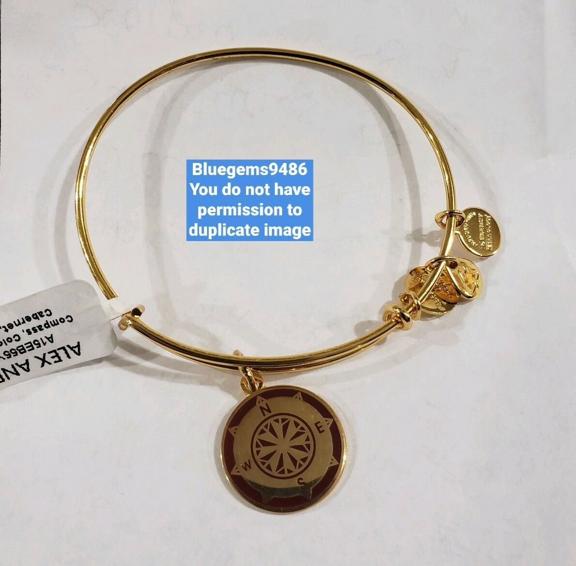 Alex and Ani color Infusion Cabernet Compass Shiny Yellow gold - Discontinued