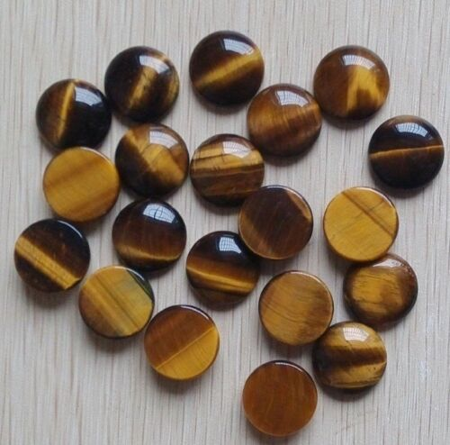 Natural Tiger Eye 10X10 mm Round Cabochon Loose Gemstone MX21