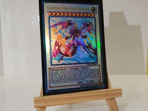 Super YuGiOh Orica  Crimson Dragon/'s Avatar Götter Holo  Custom Yu-Gi-Oh