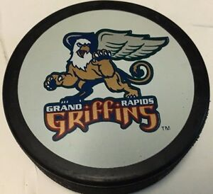 1997-01 Grand Rapids Griffins Game Used Hockey Puck IHL