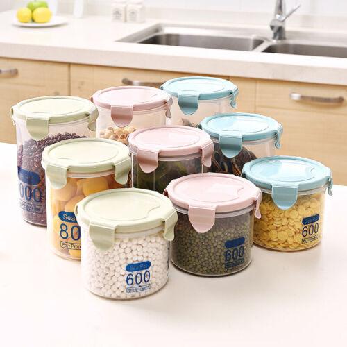 600-1000ML Plastic Kitchen Storage Box Preservation Sealing Food Container Jars