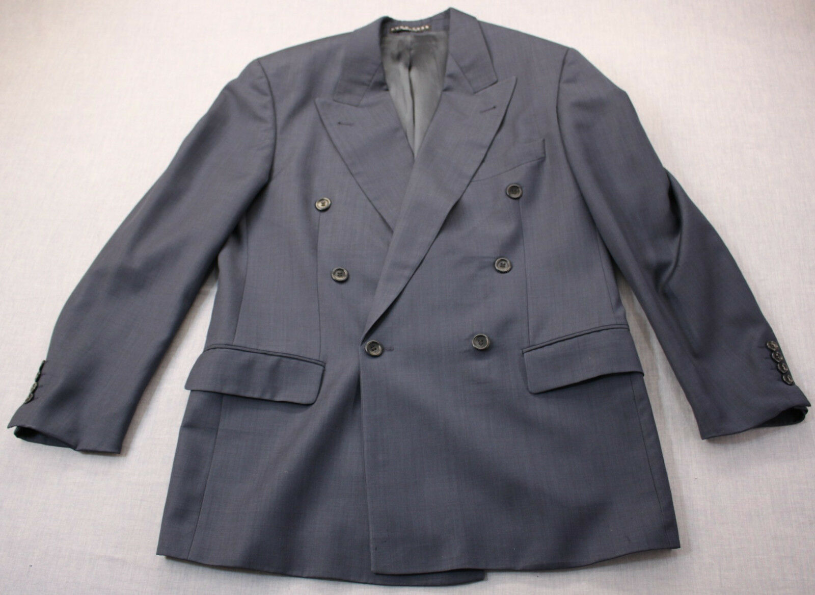 Hugo Boss USA Navy Tasmanian Super 100s Wool Double Breasted Sportcoat Blazer 42