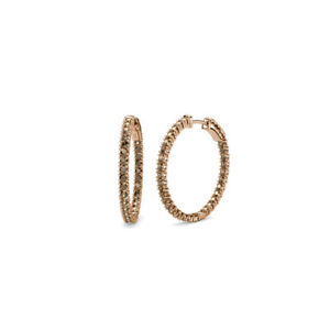 Smoky-Quartz-Inside-Out-Hoop-Earrings-1-80-Carat-tw-in-14K-Rose-Gold-JP-38754