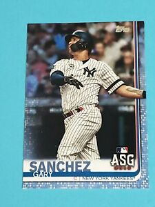 Gary Sanchez New York Yankees 2019 Topps Fathers Day Blue Parallel 1/50
