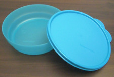 Tupperware Microwave Safe Cereal Bowl & Seal Set Impressions Aqua Blue Water New