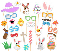 Easter Photo Props, Supoice Birthday Photo Booth Props Easter Party 29pcs