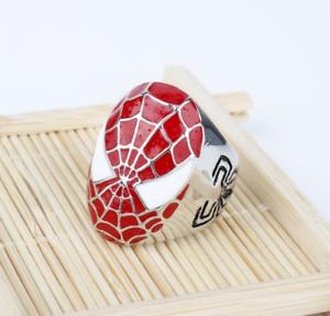 Los Vengadores Tacho Spiderman Figura de Anillo Anillos Unisex ornamento de la colección 6-12#