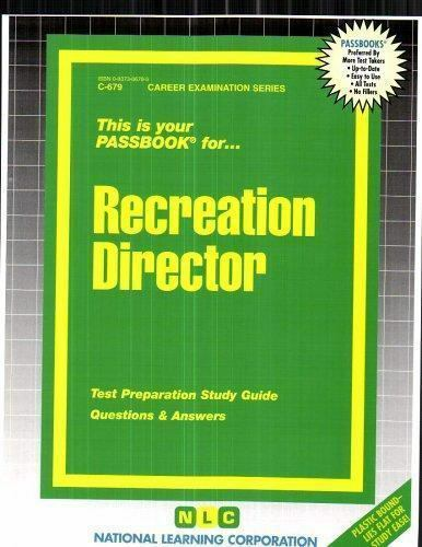 National Learning Corporation-Recreation Director BOOK NEW