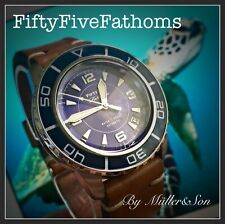Seiko 5 Automatic Diver Sports Watch SNZH FFF Fifty Five Fathoms Blue Mod 1