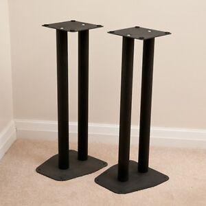 Par-de-de-soportes-de-altavoz-negro-60cm-De-Alto