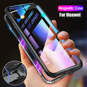 Magnetic Adsorption Metal Case For Huawei P20pro Mate20 Litetempered Glass Cover Cases, Covers & Skins Cell Phones & Accessories
