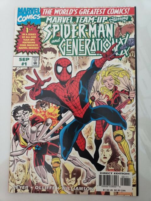 MARVEL TEAM-UP #1 Starring SPIDER-MAN and GENERATION X (1997) PAT OLLIFFE ART NM