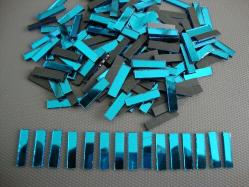 Turquoise Mirror Tiles Approx 0.5 x 2 cm 1.6 mm Thick Art/&Craft 100 pieces