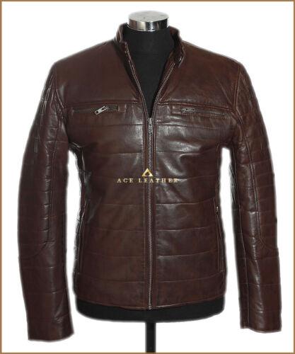 Veste chaud pour Brown en chaud hommes cuir cuir Ryland style lamsbkin style en hiver SqrzS