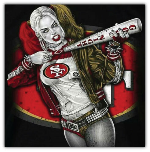 3/'/' or 5/'/' San Francisco 49ers NFL Suicide Squad Car Bumper Sticker Decal