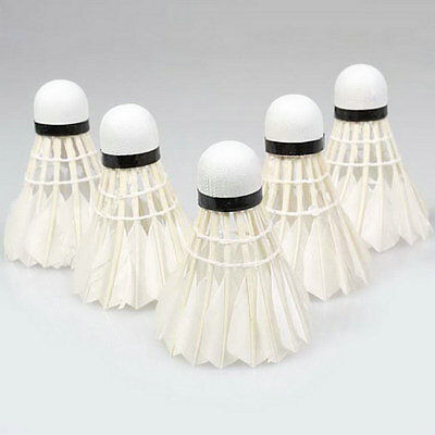 Bälle Weitere Ballsportarten Aggressive 5pcs Game Sport Training White Duck Feather Shuttlecocks Birdies Badminton Ballj At All Costs