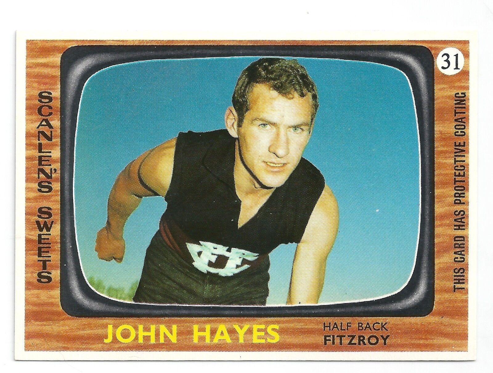 1967 Scanlens John HAYES Fitzroy Mint.