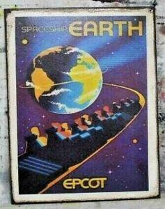 Spaceship Earth Epcot Handmade Walt Disney World vintage Ride sign