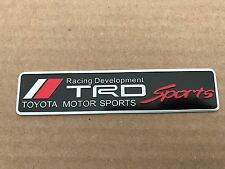 NEW TOYOTA TRD RACING SPORT TRUNK TAILGATE I FENDER EMBLEM LOGO BADGE DECAL #14