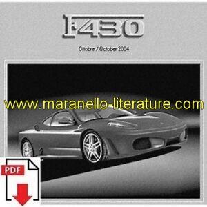 2004 Ferrari F430 Spare Parts Catalogue Pdf (uk)