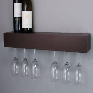 Wine Glass Rack Holder Wall Wood Hanging Storage Hanger