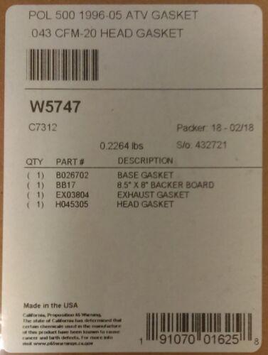 Wiseco Piston Top End Kit 92.5mm 0.5mm Over Bore Polaris 500 Scrambler 1997-2012