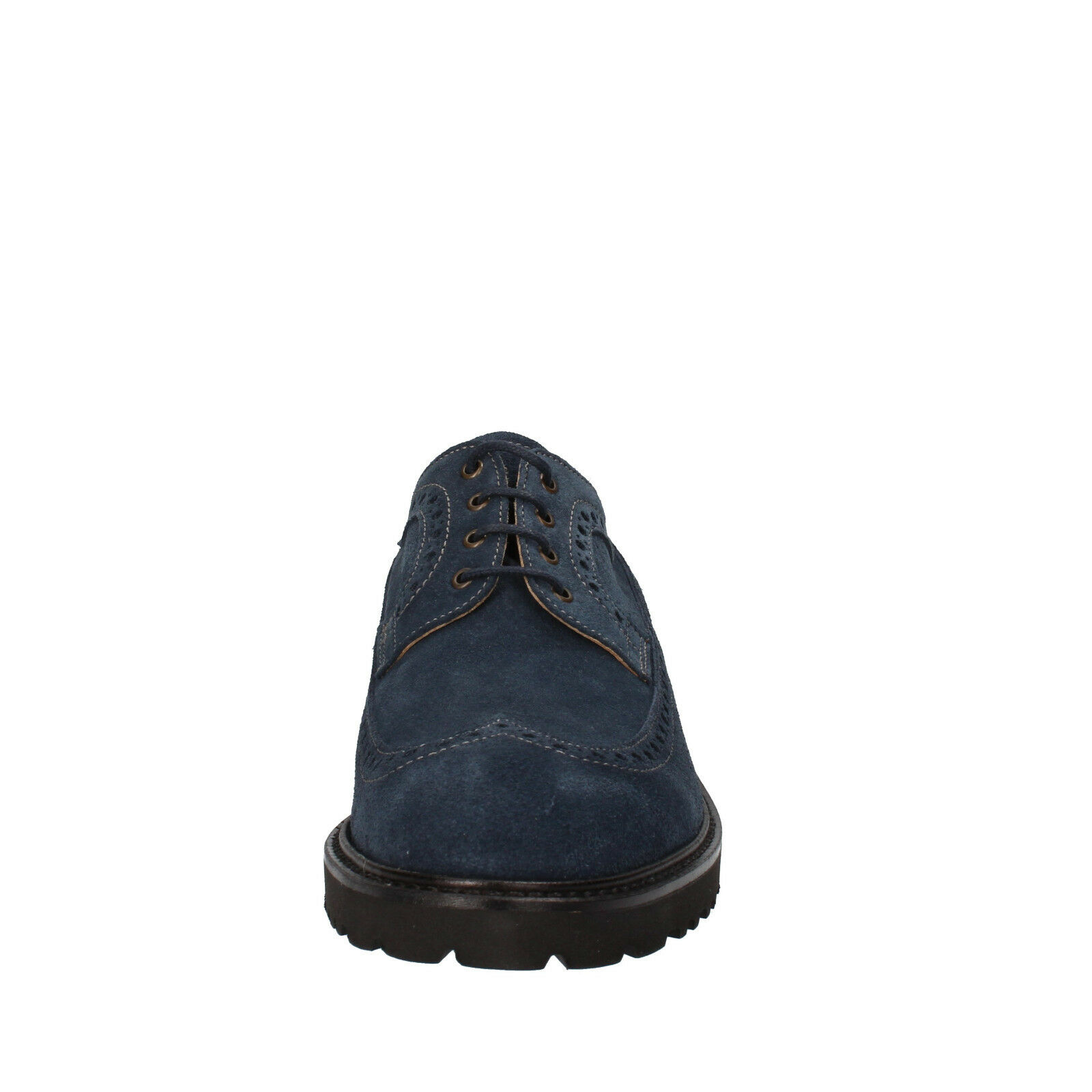 Scarpe casual da uomo  uomos shoes 39) EVOLUZION 6 (EU 39) shoes elegant / oxford-shoes blue suede AD260-B 342307