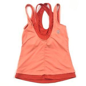Icon TMG womens Strappy Tank Top Yoga Sports Bra Built In size XS Cross strap