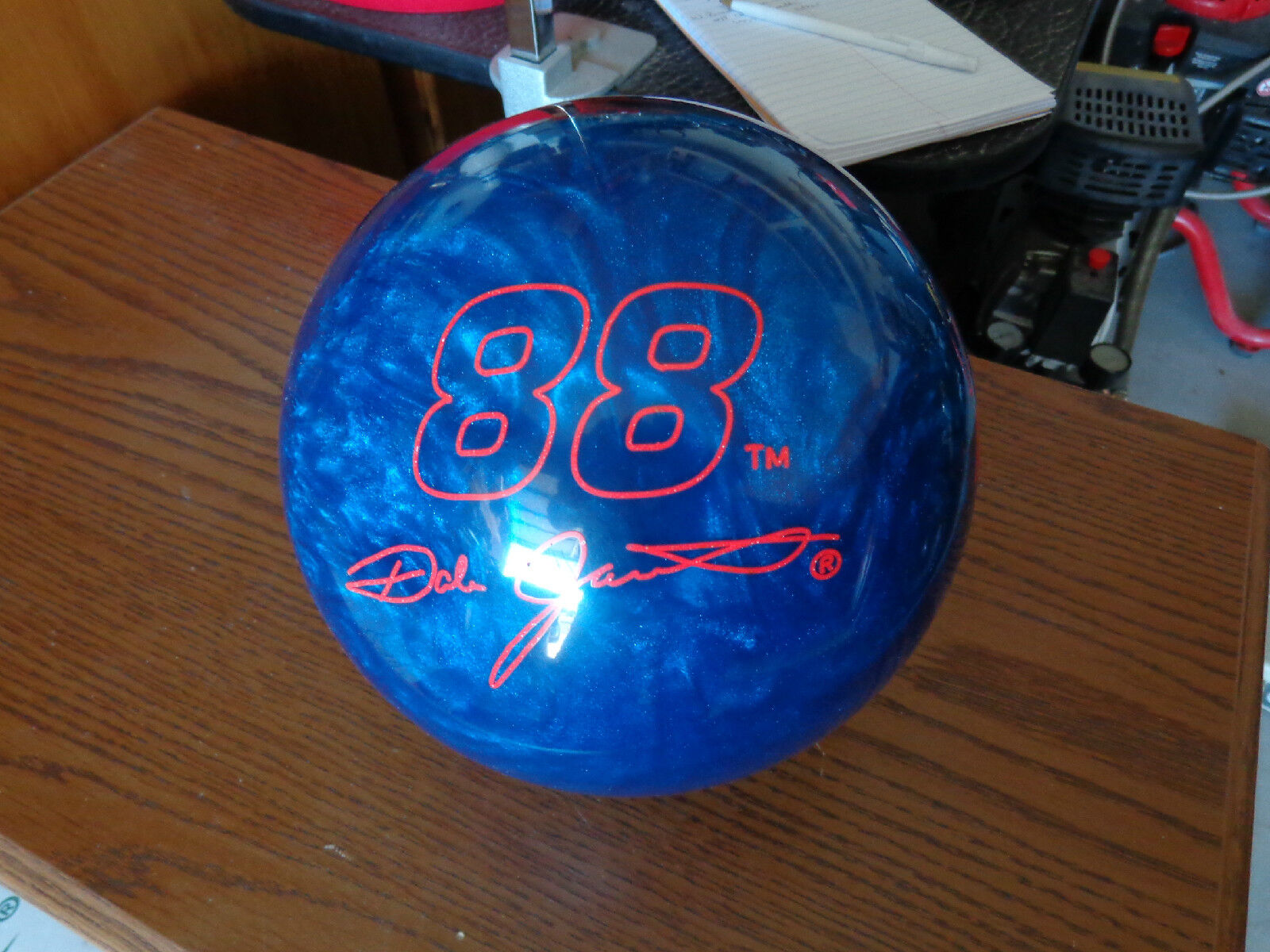 Dale Jarrett Collector Edition Bowling Ball With Diecast Car