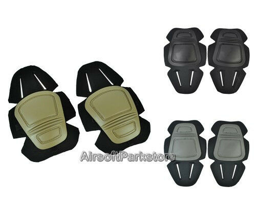 Airsoft Tactical G3 Protective Knee Pads 3 Colors Tan/Black/FG