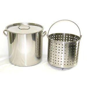 80-qt-Quart-20-Gal-Stainless-Steel-Stock-Pot-Steamer-Boil-Basket-Beer-Brew-Fry