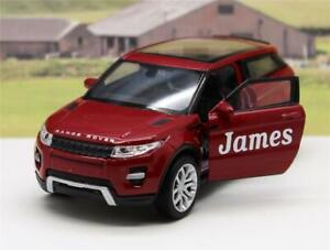 PERSONALISED NAME Gift Land Rover EVOQUE Boys Toy Model Dad Car Present Boxed