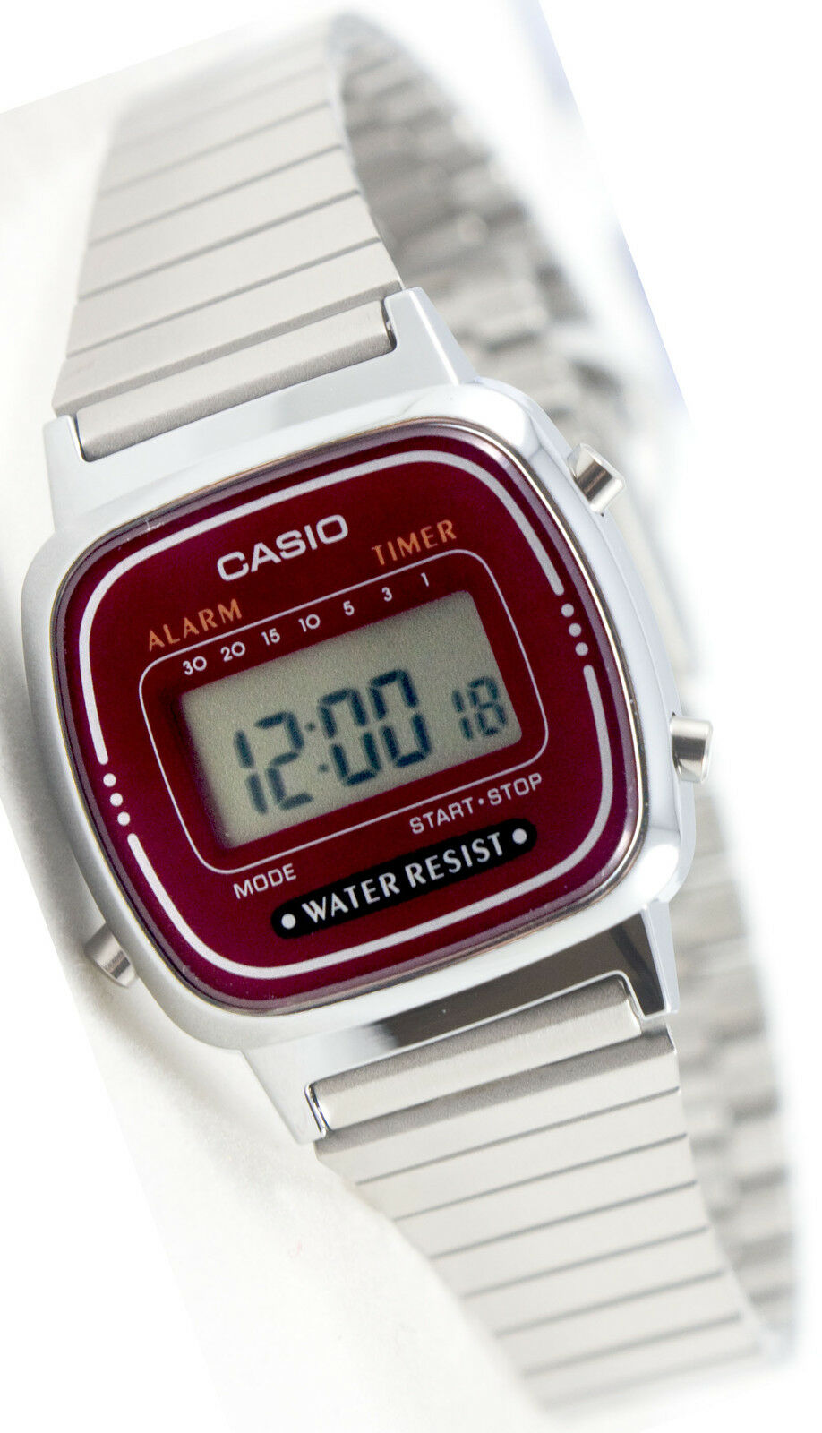Casio La670wa 4d Ladies Silver Classic Stainless Steel Digital Watch Ltp 1095q 9a Womenamp039s Quartz Alarm Timer Ebay