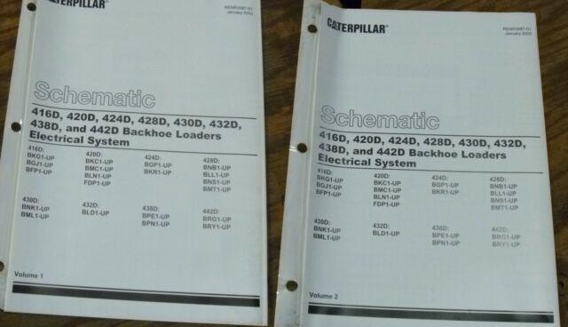 Caterpillar 424d 428d Backhoe Loader Electrical Wiring Diagram Schematic Manual