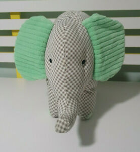 KMART-GREEN-FABRIC-ELEPHANT-PLUSH-TOY-SOFT-TOY-ABOUT-26CM-TALL-KIDS-TOY