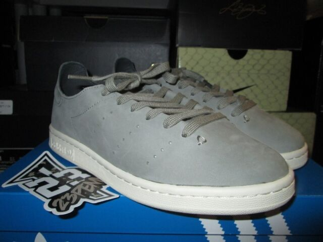 pretty nice 9a329 5af5a SALE ADIDAS STAN SMITH LEA SOCK LEATHER TRACAR GREY WHITE BB0007 NEW CLASSIC