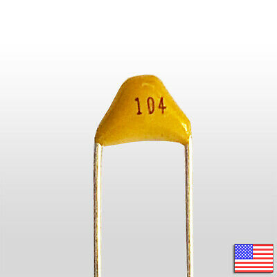 5.08MM 10PCS Monolithic capacitor 104 100NF 50V ±20/% Foot distance