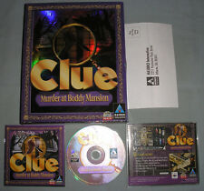 Clue: Murder at Boddy Mansion - PC Computer CD Video Game - COMPLETE in Big Box!